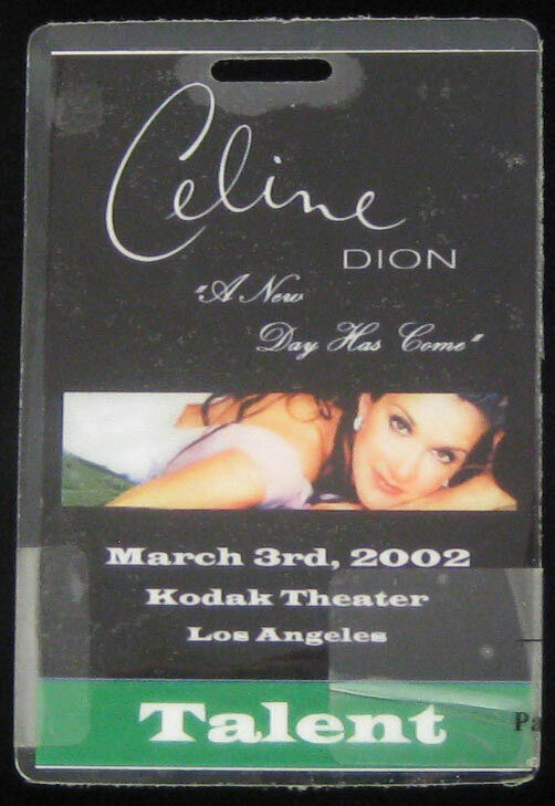 Celine Dion Original New Day Has Come 2002 Laminate Backstage Pass L.A. Talent