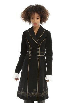 NEW Doctor Who Embroidered TARDIS Corduroy Trench Coat Size Women's Large