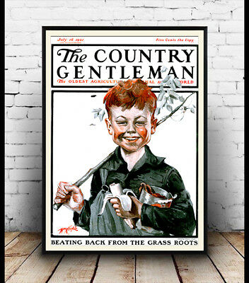 Country Gentleman Cover (Country Gentleman 1921 , magazine cover, Poster, Wall art, Reproduction)