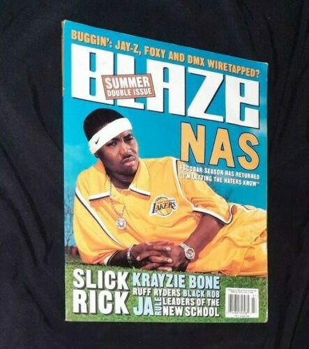 BLAZE MAGAZINE SUMMER 1999 ISSUE 7 NAS SLICK VIEW KRAYZIE BONE