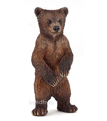 Papo 50163 Grizzly Bear Cub Animal Figurine Model Toy Gift - NIP