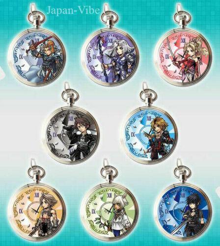 Dissidia Final Fantasy Opera Omnia 8x Pocket Watch v2 Full Set Square Enix Japan