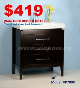 Bathroom Vanities from $109/Shower Doors from $169