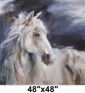 "NEW MYSTICAL HORSE OIL PAINTING 48""X48"""
