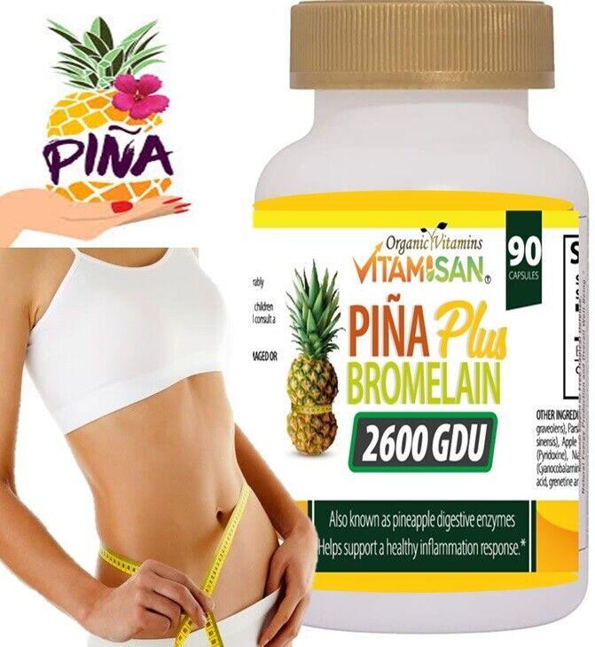 PINA SLIM CAPSULES Bromelain Pineapple Capsulas de Pina Slim Vida Keto 90 cap