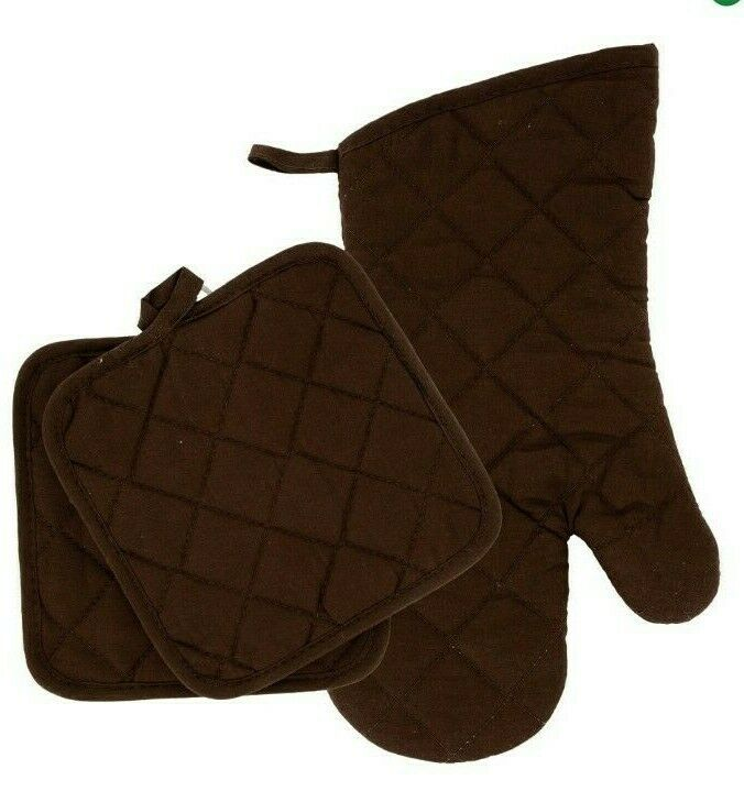 Home Collections - Kitchen Linens - Brown - Oven Mitt - Pot