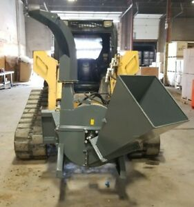 NEW 4 IN FEED WOOD CHIPPER SKID STEER