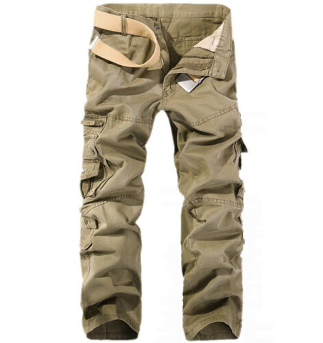 Cool-New-Fashion-Casual-Mens-Military-Army-Cargo-Camo-Combat-Work-Trousers-Pants