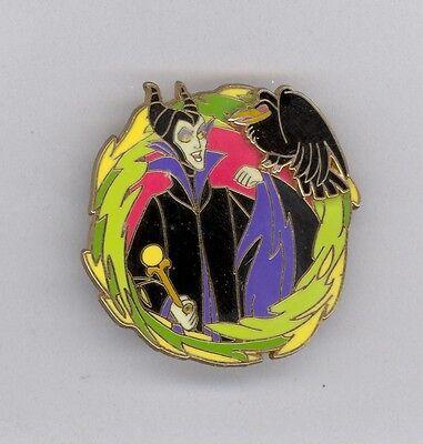 Disney Disneyland Sleeping Beauty Villain Maleficent with Pet Diablo Raven Pin