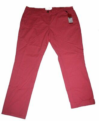 S4) DAMEN DAMENHOSE HOSE CHINOHOSE CHINO PANTS ROT HELLROT S. OLIVER Gr....
