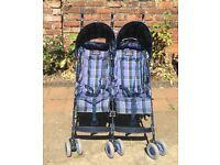 McLaren foldable double pushchair