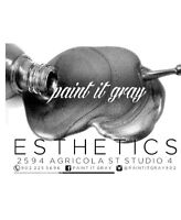 Waxing, nails, lashes and more!! Paint it gray