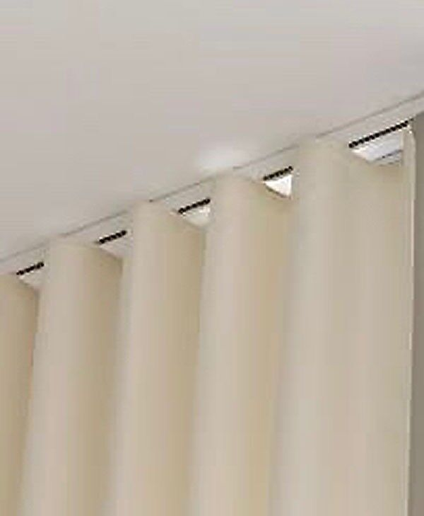 """MADE TO MEASURE S-FOLD CURTAIN TRACKS """"press Stud System"""