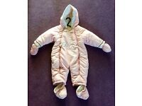 Mothercare Snowsuit Girls 6-9 months