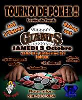 Tournoi de poker levée de fonds !!