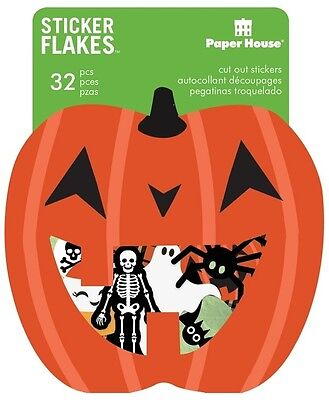 Scrapbooking Crafts PH Paper Die Cut Stickers Halloween Skeleton Bat Poison Cat - Halloween Skeleton Paper Crafts