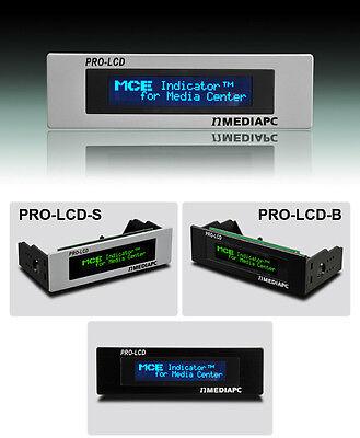 nMediaPC PRO-LCD-B Black Aluminum (Blue Text) LCD Display