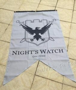 Game of Thrones - Night's Watch Family Banner Flag 3X5ft with 3