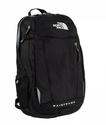 The North Face Mainframe Solid Black Padded Backpack Carryon Travel Hiking