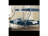 Bunk bed which sleeps three people