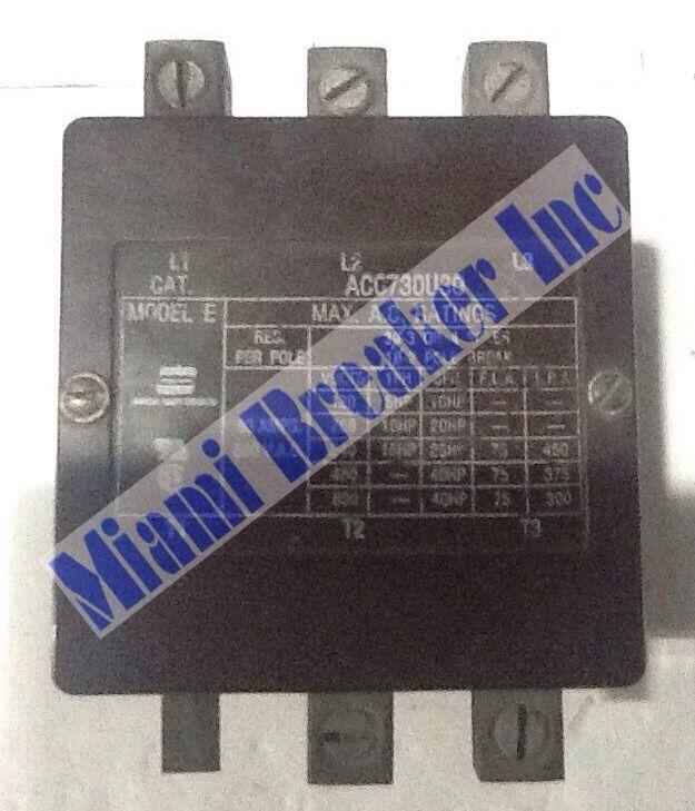 Arrow Hart Division ACC730U30 CONTACTOR 93A 240V 3 Pole Unit