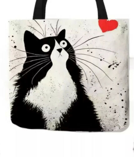 Katzen Beutel Tasche Einkaufsbeutel NEU