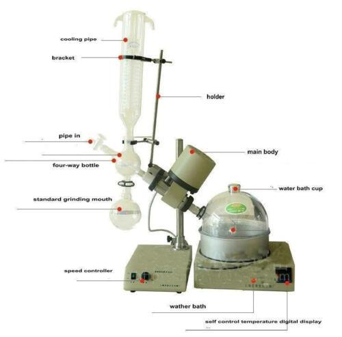 Rotary Evaporator RE52C 0.25-2L Vertical Condenser