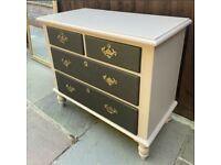 Chest of drawers cabinet storage painted can deliver