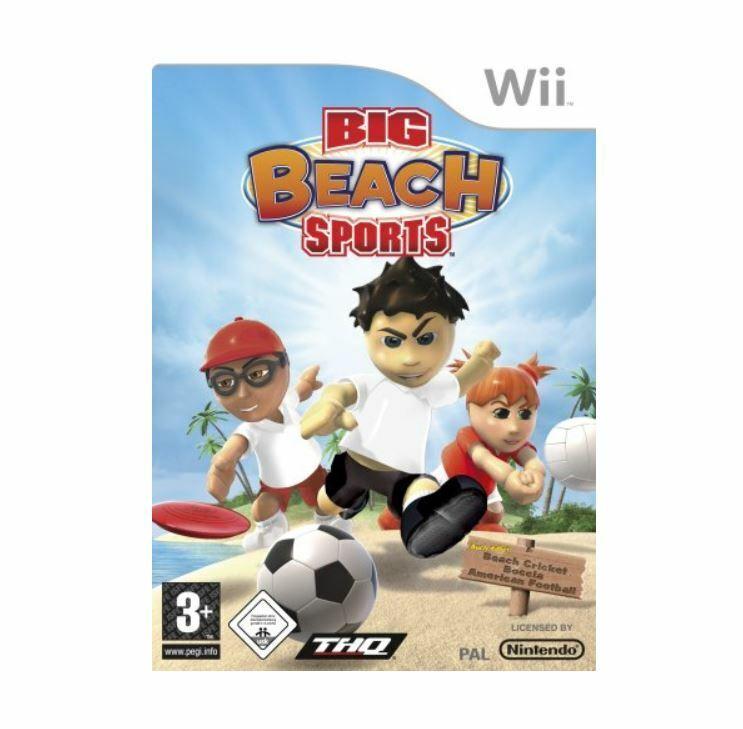 BIG BEACH Sports Wii Nintendo Spiel 6 Sportarten für bis zu 4 Spieler CD / DVD