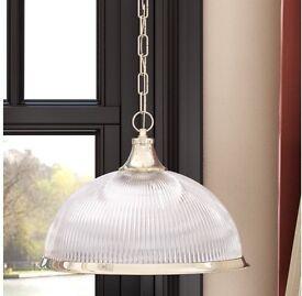 American Diner Pendant Light Fitting (Glass Lamp Shade)