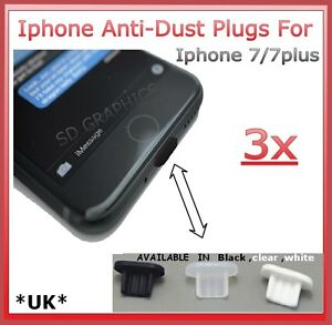 3x Anti-Dust Stopper For Iphone 7/7plus