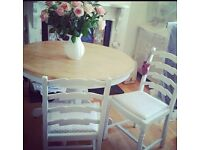 Round table and chairs for sale