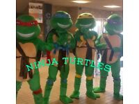 Bargain! 4 x Ninja Turtle Mascots Awesome for parties!