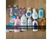 Job lot 14 Johnson's Baby products **brand new**
