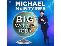Michael McIntyre big world tour tickets (Liverpool show)
