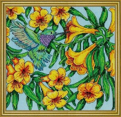 Design Works Counted Cross Stitch Kit Hummingbird 10