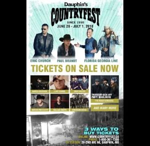 Looking for DAUPHINS COUNTRYFEST TICKETS