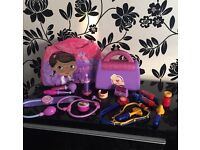 Doc Mc Stuffins dr bag,2in1 pillow bag&extras