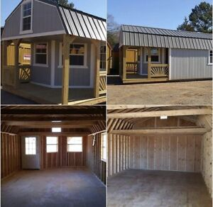 Shed with Deluxe playhouse pkg   12'X24' to 14' X40'  Eng. cert.