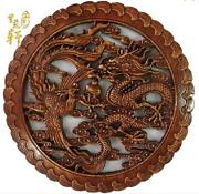 Chinese Dragon Statue Wood
