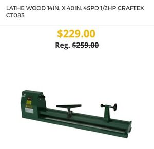Brand New Wood Lathe for Sale. Still in Box