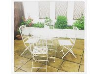 White Garden Furniture Set