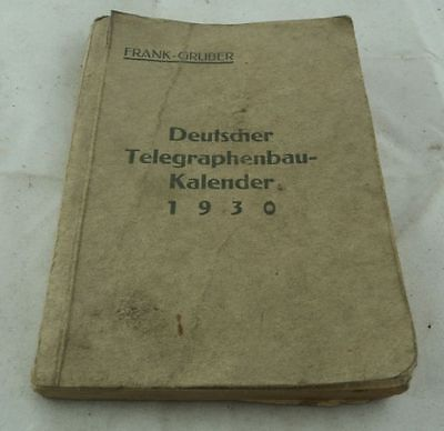 alter Taschenkalender Deutscher Telegraphenbau Kalender 1930