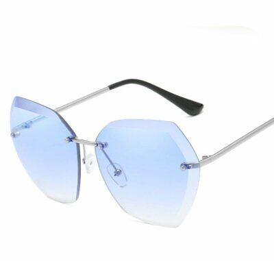 Fashion Women Ocean Lens Sunglasses Trendy Ladies Frameless Metal Frame (Trendy Sunglasses For Ladies)