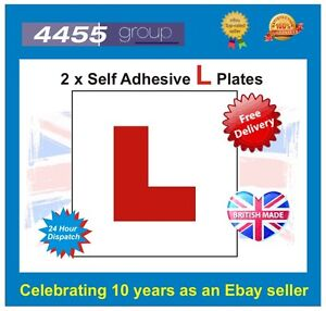 2x Self Adhesive Stick On L Plates ******FREE P&P******
