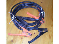 Heavy duty jump leads - 8ft long. See other items also for sale.