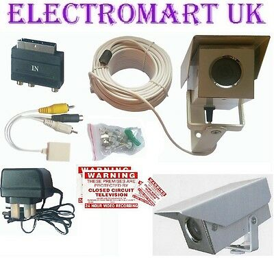 COLOUR AUDIO VIDEO CCTV CAMERA SURVEILLANCE KIT METAL HOUSING  Audio Surveillance Kit