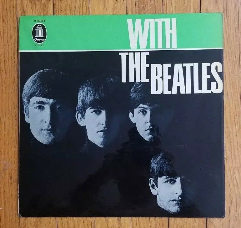 With The Beatles German 1st Edition 1963 Green Odeon Label Nr Mint