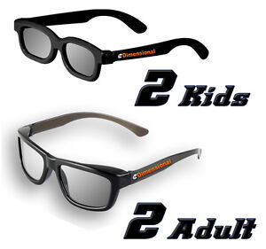 ED-CINEMA-FAMILY-4-Pack-DUAL-PLAY-LG-AG-F310DP-AG-F400DP-Compatible-3D-Glasses