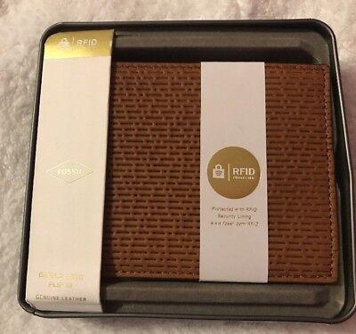 Fossil Men's Coby RFID International Combination Cognac Wallet ML3914222